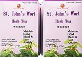 Health King  St John's Wort Herb Tea, Teabags, 20-Count Box (Pack of 6)