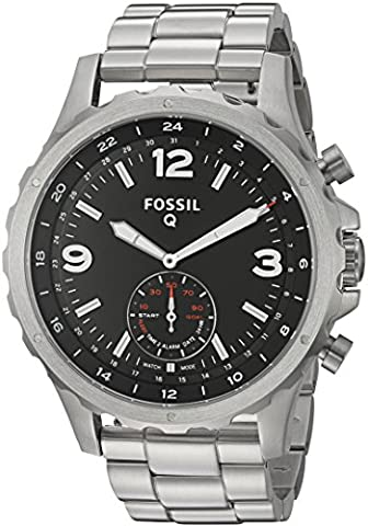 Fossil Q Nate Gen 2 Men's Stainless Steel Hybrid Smartwatch FTW1123 (Fossil Watchs Nate)