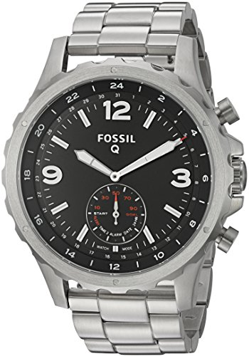Fossil Q Nate Gen 2 Hybrid Silver Stainless Steel Smartwatch
