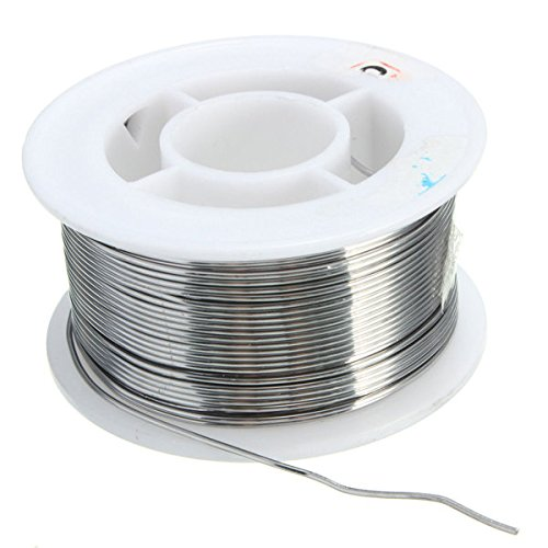 Doradus 100g 0.8mm 60/40 Tin lead Solder Wire Rosin Core Soldering 2% Flux Reel Tube ()