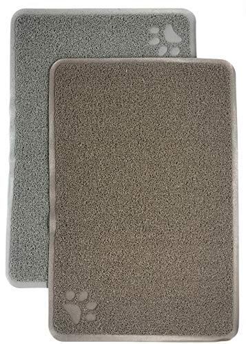 The Pampered Paw by LuxePets Dog and Cat Food, Water, and Litter Trapper Mat- 24″ X 16″ Large Heavy-Duty PVC, Cleans Paws, Keeps Floors Clean