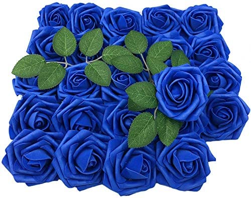 Lmeison Artificial Flower Rose Christmas Tree 50pcs Real Looking Blue Roses W Stem For Bridal Wedding Bouquets Centerpieces Baby Shower Diy Party Home Decor Amazon Sg Home
