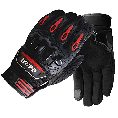 Pro-biker Motorcycle Gloves Unisex Full Finger Touch Screen Powersports Racing Gloves (L)