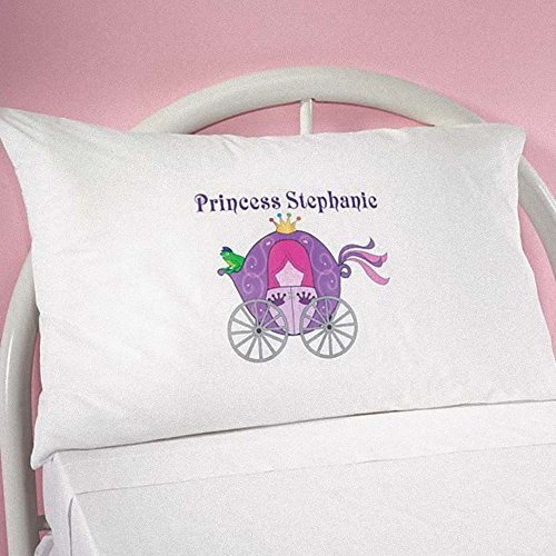 MK Personalized Princess Carriage Pillowcase - Great Gift