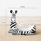 NOHOPE Desktop Hydroponic Resin Giraffe Animal Shape Glass Cylinder Vases Home Decoration Vase Crafts Ornaments,B