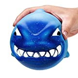 Yusealia Squishy Toy Jumbo Kawaii Squishise Cute Cream Scented Slow Rising Squishies Charms For Kids Adults Gift,Lovely Toy Cell Phone Straps Key Chains Decor (Big Shark 12CM)