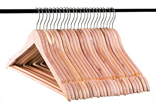 Neaties American Cedar Wood Hangers with Notches and Bar for Fresh Closet, 24pk ()