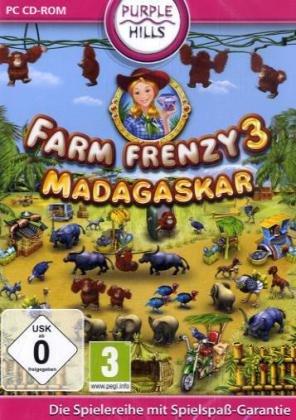 Farm Frenzy 3, Madagascar, CD-ROM Für Windows Xp, Vista, 7