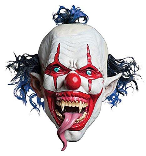 Scary Horror Halloween One Size Evil Satanic Demon Tongue Clown Mask