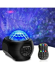 SUNOVO Sterrenhemel projector, led-sterrenlichtprojectorlamp voor volwassenen, kinderen, met afstandsbediening en bluetooth-luidspreker, watergolfeffect voor feestjes, verjaardagen, Kerstmis, Pasen