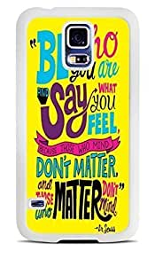 Always Famous Childrens Author Quote White Silicone Case for Samsung Galaxy S5