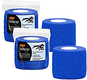 3M Vetrap Veterinary Bandaging Tape, 5-Yard Rolls