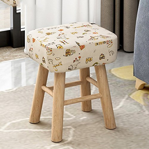 [Child] [Rural] Space Saving Changing Shoes Stool [Compression] Sponge Round Stool Tea Table Shoes Stool-Party - Kitten - High Style 353043cm