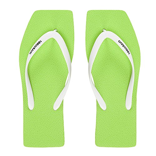 Hikkaduwa Chanclas LINE MODEL para mujer, color liso, zapatos aleros Acid Green