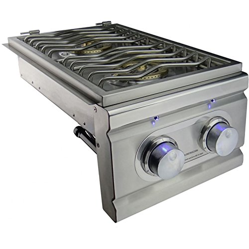 Double Side Burner with LED Lights - Slide-In - Propane by RSC