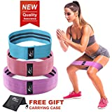 HOMOFY Resistance Bands Exercise Bands Hip Booty Bands Workout Bands-Cotton Loop Resistance Band for Exercise Legs & Butt Body Stretching, Yoga, Pilates, Muscle Training