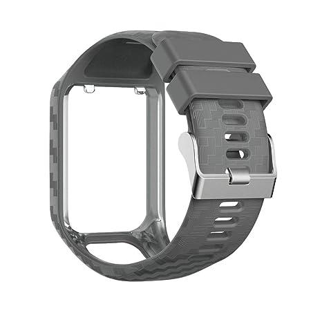 Aubess Bracelet de Montre pour Tomtom Série 3/2, Bracelet de Montre multiport en Silicone pour Tomtom Watch Spark 3/2.: Amazon.fr: High-tech