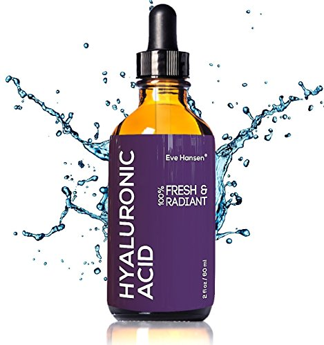 Pure Hyaluronic Acid Serum 2 Ounces by Eve Hansen. Hydrating Serum, Wrinkle Filler and Plumper. Experience Intense Moisture, Hydration and Anti Wrinkle Serum Benefits. Vegan, Natural and Cruelty Free. (Moisture Mask Intense)