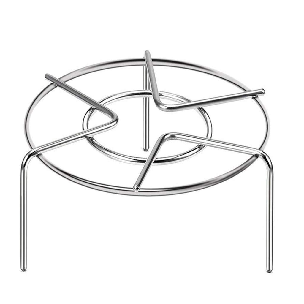 "Household Stainless Steel Cooking Ware Steaming Rack Stand 6"" Diameter (Heavy Duty Rack HIgher)"
