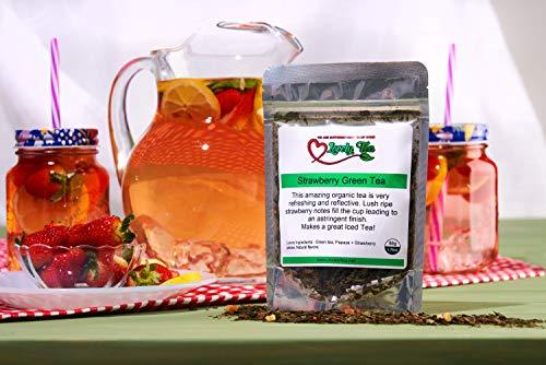 Lovely Strawberry Green Tea