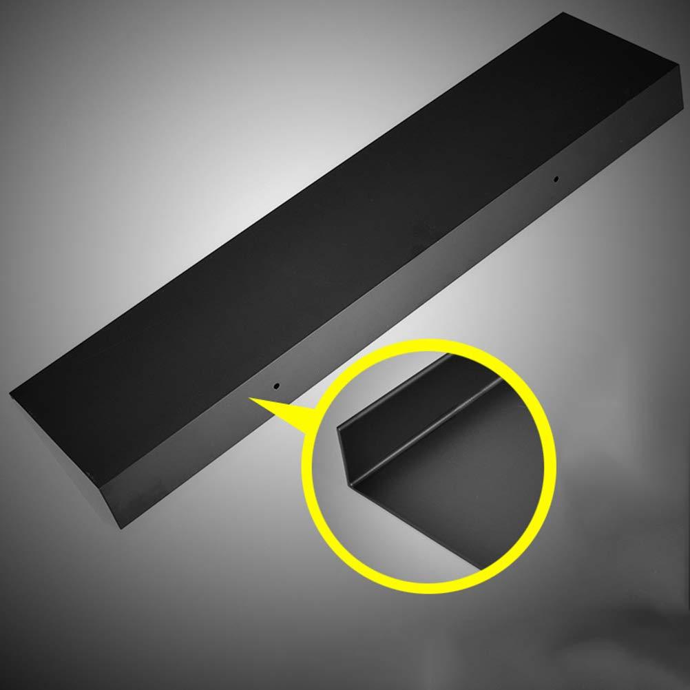 Resistente al /óxido Yardwe Estante de ba/ño Color Negro para Montar en la Pared para Ahorrar Espacio Estante de Almacenamiento Flotante Extra Fuerte 30 cm