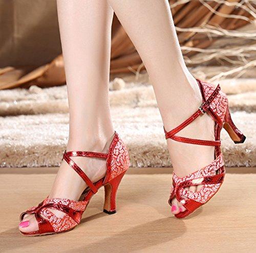 TDA - Zapatos con tacón mujer 8.3cm Heel Red