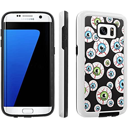 [Galaxy S7] [5.1 Screen] Armor Case [Skinguardz] [White/Black] Shock Absorbent Hybrid - [Black Eyeball] for Samsung Galaxy S7 / GS7 Sales