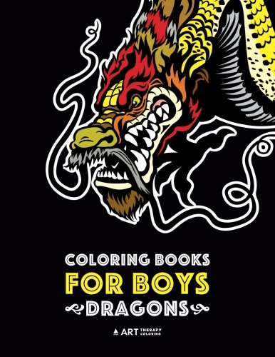 Detailed Dragon - Coloring Books For Boys: Dragons: Advanced Coloring Pages for Teenagers, Tweens, Older Kids & Boys, Detailed Dragon Designs With Tigers & More, ... Stress Relief & Relaxation, Relaxing Designs