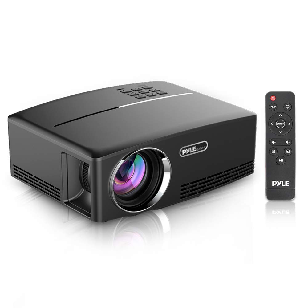 Digital Multimedia Home Theater Projector - HD 1080p Portable Digital Data System Projection w/LED, USB, HDMI Entertainment Video Photo Game Full Cinema Movie in Your Laptop - Pyle