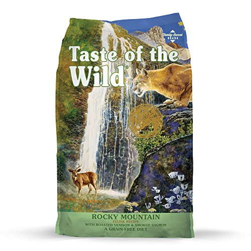 Taste Of The Wild Rocky Mountain Grain-Free Dry Cat Food With Roasted Venison & Smoked Salmon 15Lb