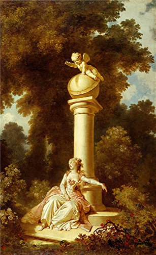 Oil Painting 'Jean-Honore Fragonard - The Progress Of Love - Reverie, 1790-91' 10 x 16 inch / 25 x 41 cm , on High Definition HD canvas prints is for Gifts And Bar, Bath Room And Nursery decor, fast - Urban Funk Table Lamp