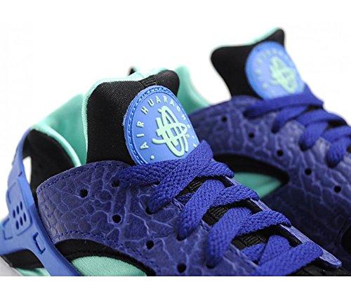 Nike Mens Air Huarache Royal Blue Navy Green Elephant Nubuck Mesh Trainer