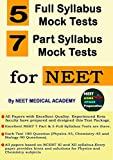 All India Mock Test Papers for NEET 2019 for Physics + Chemistry + Biology (Total 12 Papers) by NEET MEDICAL ACADEMY: 7 Part Tests and 5 Full Tests...
