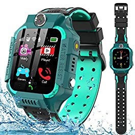 Kids Smart Watch for Boys Girls – IP67 Waterproof Smart Watch Phone with Music Player Video Calls Recorder Camera Gizmos…