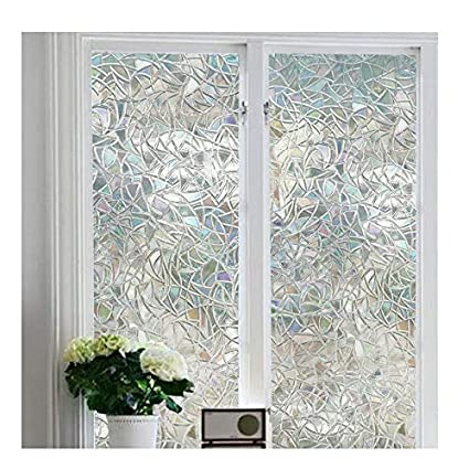 Amazon Window Film 3d Decorative No Glue Reflective Window