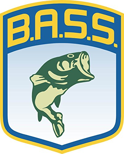 "Bass B.A.S.S. Fish Fishing 4"" x 5"" Vinyl Sticker Decal Color"