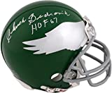 Chuck Bednarik Philadelphia Eagles Autographed Riddell Mini Helmet with HOF 67 Inscription - Fanatics Authentic Certified