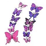 56acada8bb Enjoygous 12 PCS 3D Luminous Butterfly Wall Stickers Decor Art Decorations