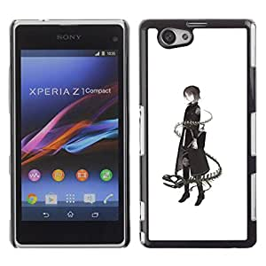 Paccase / SLIM PC / Aliminium Casa Carcasa Funda Case Cover - Lady Dragon Snake Deep Meaning - Sony Xperia Z1 Compact D5503