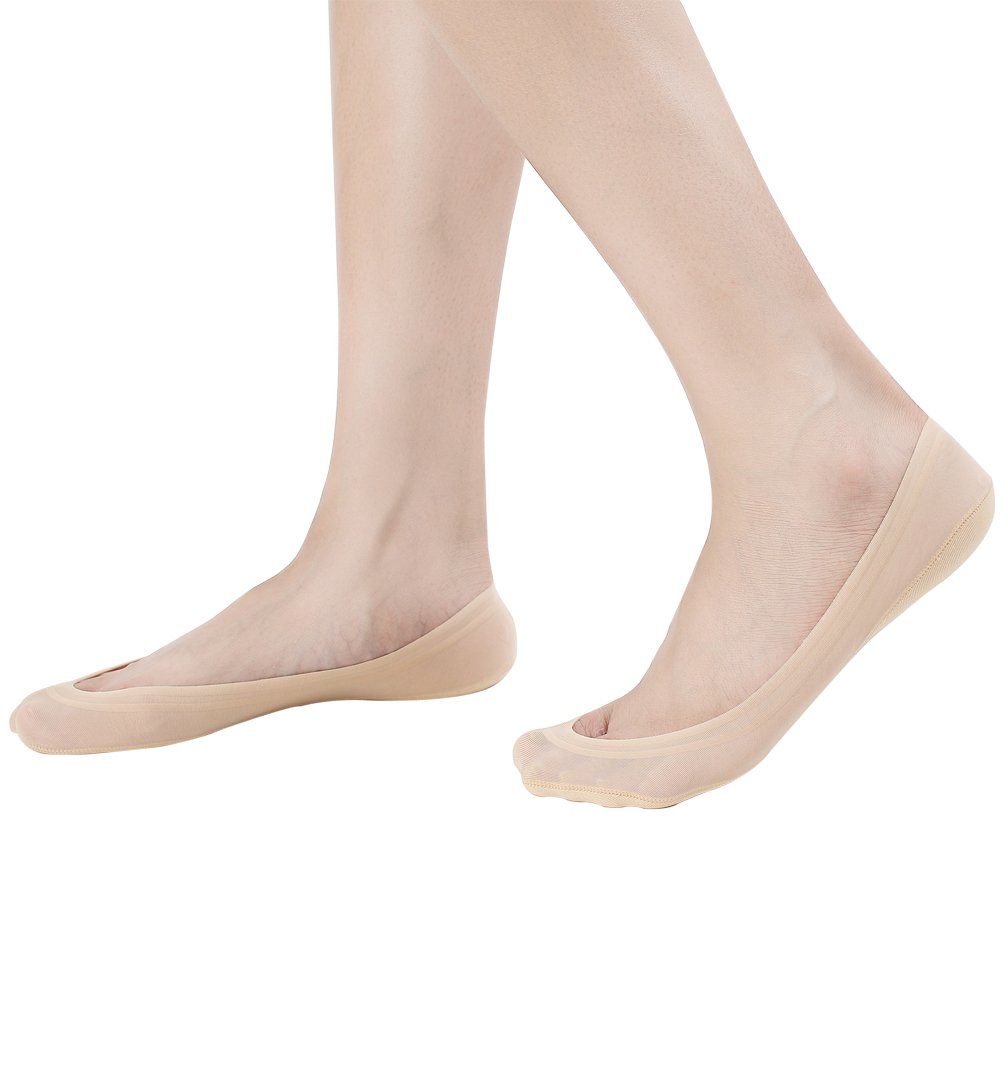 4 Pairs No Show Socks Women for Flat Low Cut Socks Beige by Everbellus (Image #3)