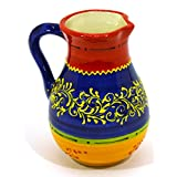 "Ceramic JUG 20CM, handmade and handpainted in barcelona decoration. 5,71"" x 4,92"" x 6,89"""