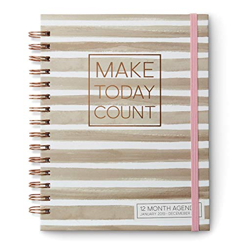 (2019 12-Month Daily Weekly Calendar Agenda and Planner: Track Appointments, Tasks and Increase Productivity with This Personal Organizer or Diary for Home or Office (Make Today Count))