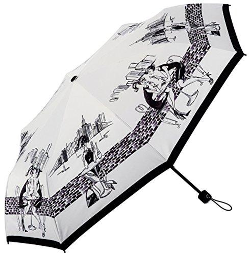 Evobak Rain Umbrella Travel Quick Dry Compact Portable Folding Umbrella Brand Windproof Rainproof Anti-UV Light Weight UPF 51+ for Rain/Sun by Evobak
