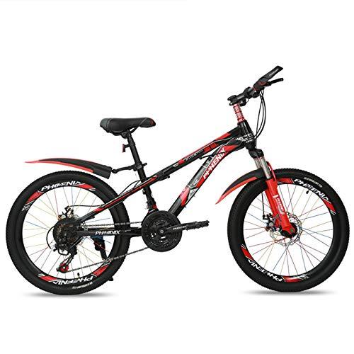 20/22/24 inch mountainbike, 21 Speed volledige vering MTB racefiets fiets, Double Disc Brake High Carbon Steel Frame…