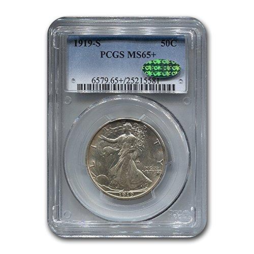 1919 S Walking Liberty Half Dollar MS-65+ PCGS CAC Half Dollar MS-65 (Walking Liberty Half Dollar Mintmark)