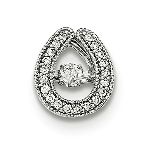 Or blanc 14 carats Diamant Pendentif JewelryWeb Mobile Slide
