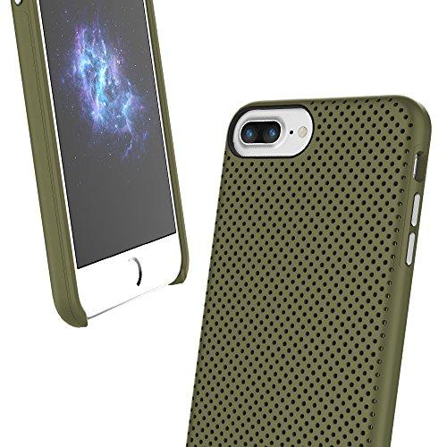 """Prodigee [Breeze] Army Green Apple iPhone 7 Plus & iPhone 6 / 6s Plus 5.5"""" Cell phone Case Cas, de protection flexible, durable, absorption des chocs, étui de protection, couverture de téléphone haut-"""