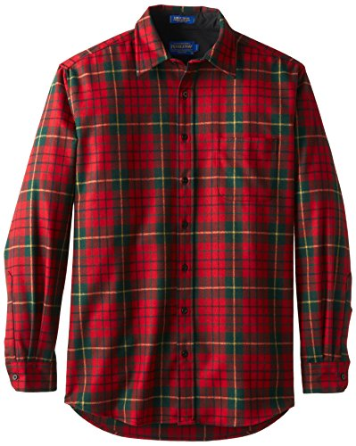 Pendleton Men's Big-Tall Tall Lodge Shirt, Red Tartan, X-Large-Tall