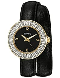 SO & CO New York Women's 5070.1 SoHo Analog Display Quartz Black Watch