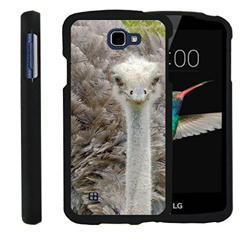 - TurtleArmor   LG K4 Case   LG Optimus Zone 3 Case   LG Spree   LG Rebel [Slim Duo] Slim Compact 2 Piece Hard Snap On Case Grip Matte on Black Animal Design - Ostrich